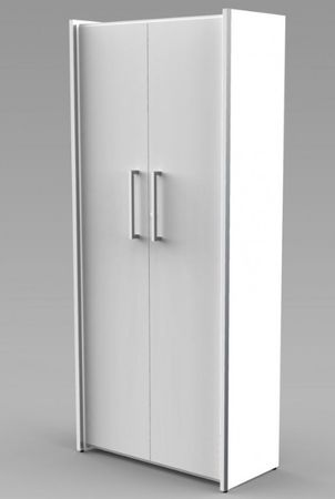 AVETO Aktenschrank 5OH Büroschrank Schrank Türenschrank Weiß – Bild 1