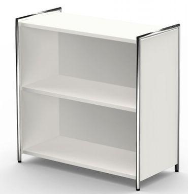 ARTLINE Sideboard 2OH Aktenschrank Schrank Büroschrank Weiß/Glas – Bild 2