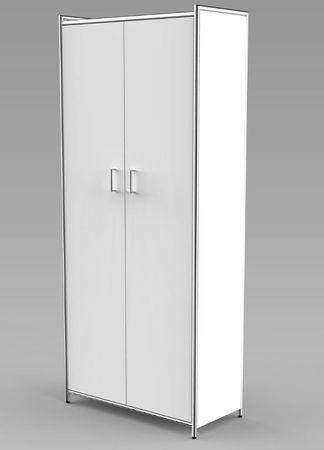 ARTLINE Aktenschrank 5OH Büroschrank Schrank Türenschrank Weiß – Bild 1