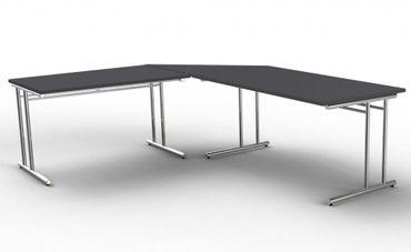 ARTLINE Winkelkombination Eckschreibtisch Schreibtisch Bürotisch Anthrazit – Bild 1