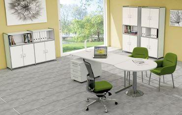 ARTLINE TYP4 Komplettbüro Büro Komplettset Office Weiß – Bild 1