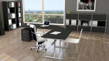 ARTLINE TYP8 Komplettbüro Büro Komplettset Office Anthrazit – Bild 1