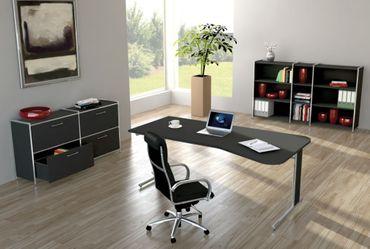 ARTLINE TYP12 Komplettbüro Büro Komplettset Office Anthrazit – Bild 1