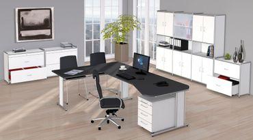 ARTLINE TYP13 Komplettbüro Büro Komplettset Office Weiß – Bild 1