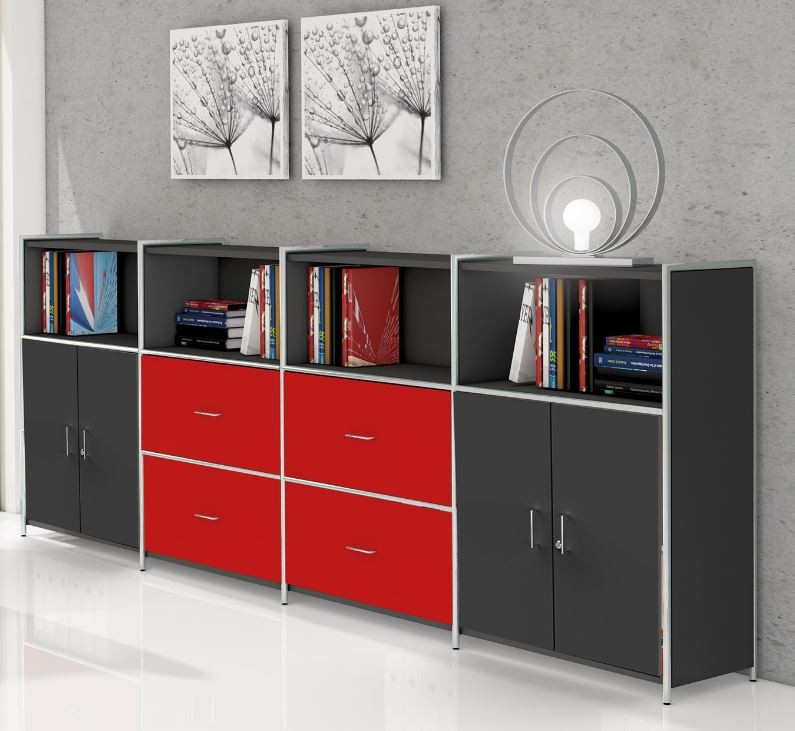 artline typ14 highboard 3 oh regal sideboard b roregal. Black Bedroom Furniture Sets. Home Design Ideas