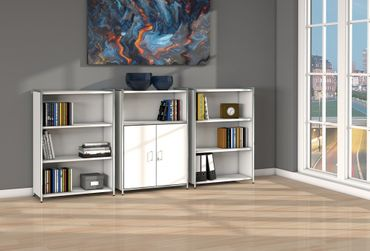 ARTLINE TYP15 Highboard 3 OH Regal Sideboard Büroregal Regalwand Weiß – Bild 2