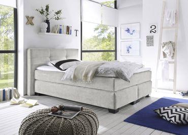 ILLINOIS A Boxspringbett 140x200cm Bett Komfortbett Kinderbett Jugendbett Silber – Bild 2