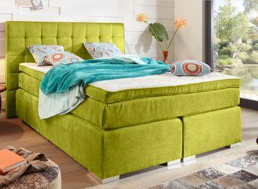 IDAHO Boxspringbett 140x200cm Bett Komfortbett Kinderbett Jugendbett Grün – Bild 1