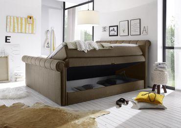 CALIFORNIA C Boxspringbett 180x200cm Bett Komfortbett Doppelbett Ehebett Stone – Bild 2