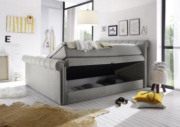 CALIFORNIA C Boxspringbett 180x200cm Bett Komfortbett Doppelbett Ehebett Silber – Bild 3