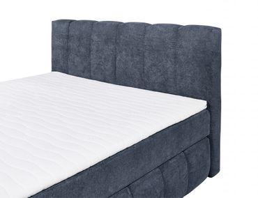IOWA Boxspringbett 160x200cm Bett Komfortbett Doppelbett Ehebett Dunkelblau – Bild 2