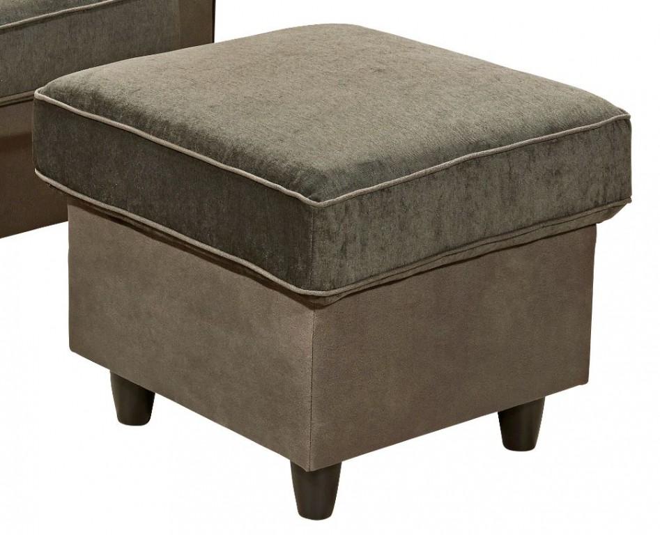 canyon sessel mit hocker hochsessel ohrenbackensessel einzelsessel grau braun polsterm bel. Black Bedroom Furniture Sets. Home Design Ideas