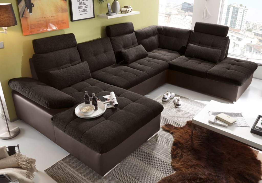 Jakarta Wohnlandschaft Mit Schlaffunktion Couch Sofa Schlafsofa