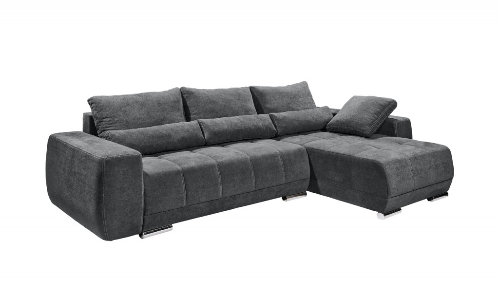 lopez ecksofa mit schlaffunktion couch schlafsofa sofa anthrazit 4250826331550 ebay. Black Bedroom Furniture Sets. Home Design Ideas