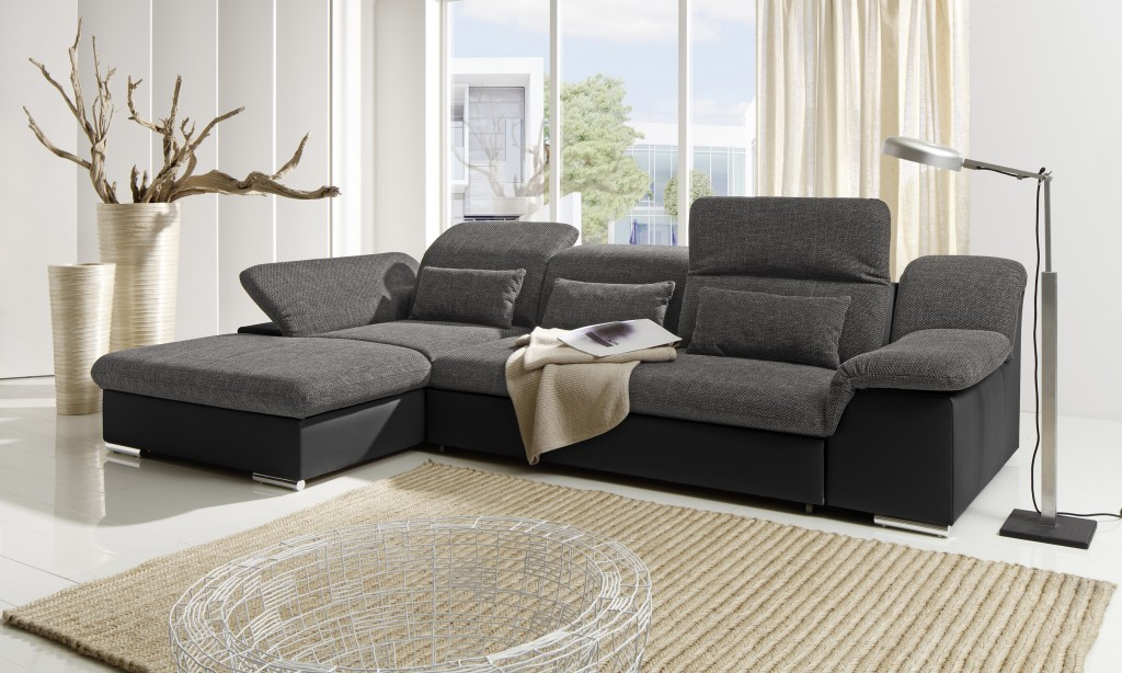 move ii ecksofa mit schlaffunktion couch schlafsofa sofa schwarz dunkelgrau polsterm bel ecksofas. Black Bedroom Furniture Sets. Home Design Ideas