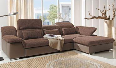 MOVE II Ecksofa mit Schlaffunktion Couch Schlafsofa Sofa Grau/Braun – Bild 1