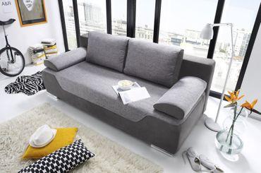 CLEO Schlafsofa Schlafcouch Sofa m. Schlaffunktion Couch Grau – Bild 3