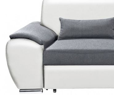 ANTARA Ecksofa mit Schlaffunktion Couch Schlafsofa Sofa Weiß/Anthrazit – Bild 6