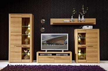 WOODTREE Wohnkombination TV-Kombination Wohnwand Wohnzimmer-Set – Bild 2
