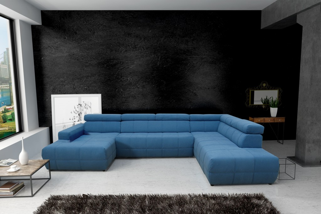 trani wohnlandschaft eckgarnitur sofa couch t rkis ebay. Black Bedroom Furniture Sets. Home Design Ideas