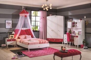 Cilek YAKUT Schreibtisch Kinderschreibtisch Kinderzimmer Weiß/Pink – Bild 4