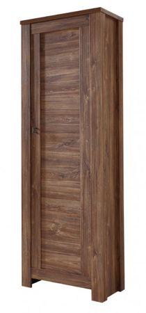 Bellatrix Garderobenschrank Dielenschrank Garderobe Flur Schrank Akazie dunkel – Bild 1