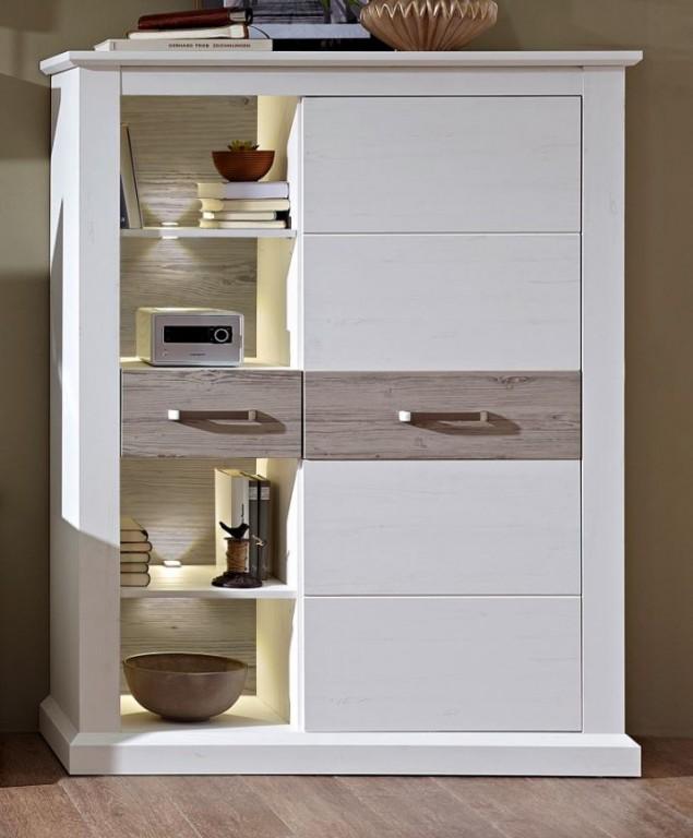 castor wohnzimmerschrank schrank wohnzimmer stauraum pinie. Black Bedroom Furniture Sets. Home Design Ideas