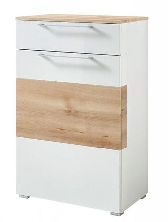 Kingston Schuhschrank Garderobenschrank Schuhregal Garderobe Weiß/Buche – Bild 1