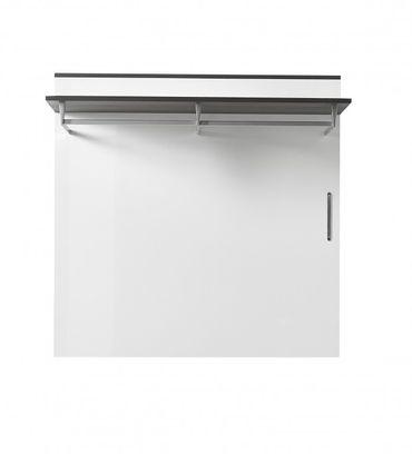 Kingston Garderobenpaneel Paneel Wandgarderobe Wandpaneel Weiß/Grau – Bild 1