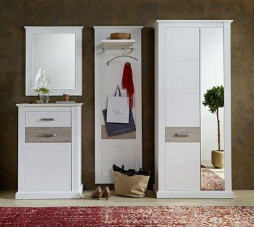 Castor 11 Garderoben Set Komplettset Flur Komplettgarderobe Pinie hell – Bild 2