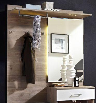 Victoria 1 Kompaktgarderobe Garderoben Set Komplettgarderobe Weiß/Silbereiche – Bild 2