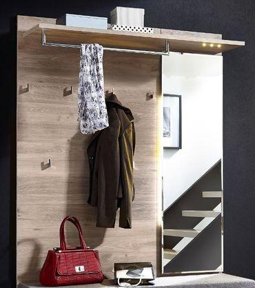 Victoria 2 Kompaktgarderobe Garderoben Set Komplettgarderobe Weiß/Silbereiche – Bild 2