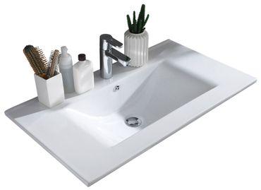 SPLASH 4 Badezimmer Set 2-tlg. Weiß Hochglanz – Bild 4