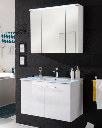 SPLASH 4 Badezimmer Set 2-tlg. Weiß Hochglanz – Bild 1