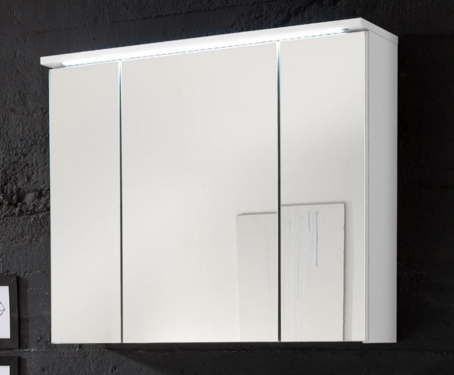 SPLASH Spiegelschrank inkl. LED-Beleuchtung Weiß   Günstig Möbel ...