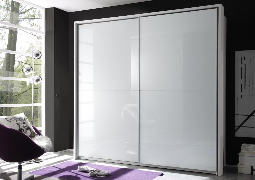 victor 4 kleiderschrank schiebet renschrank schlafzimmer schrank wei hochglanz ebay. Black Bedroom Furniture Sets. Home Design Ideas