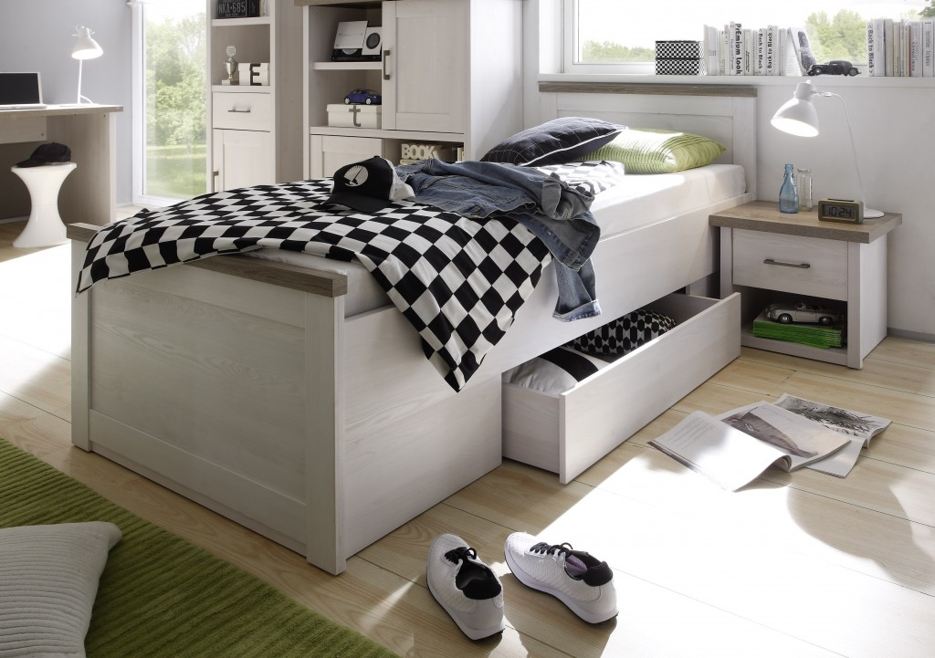 ... Luca 3 Jugendzimmer Set Komplettset Kinderzimmer Schlafzimmer Pinie Weiß  ...