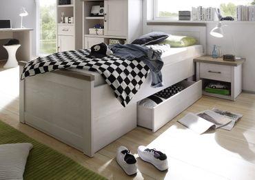 Luca 3 Jugendzimmer Set Komplettset Kinderzimmer Schlafzimmer Pinie Weiß – Bild 2