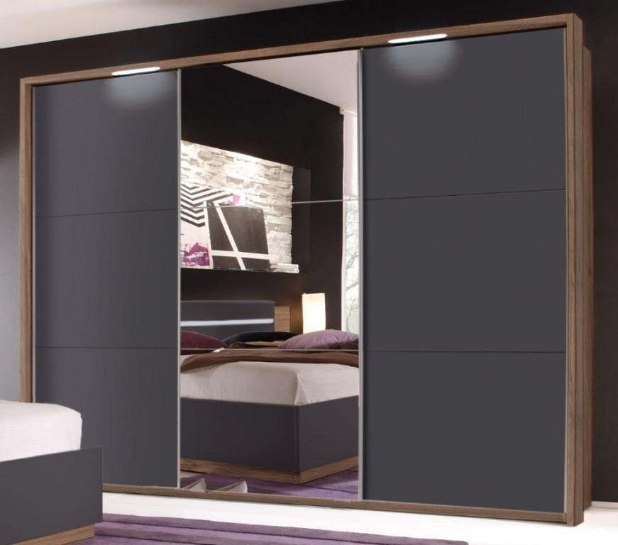 Dandy schlafzimmer set komplettset set nussbaum schwarz for Schlafzimmer set schwarz