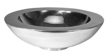 Aluminiumschale Ø 30cm rund doppelwandig Schale Dekoschale Deko Silber