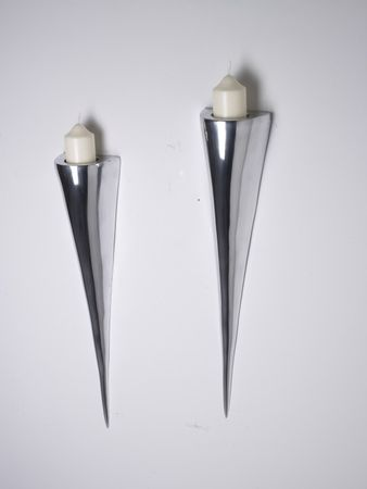 Fackelleuchte 21x9x61cm Aluminium Wandleuchter Wandkerzenhalter Kerzenhalter – Bild 2