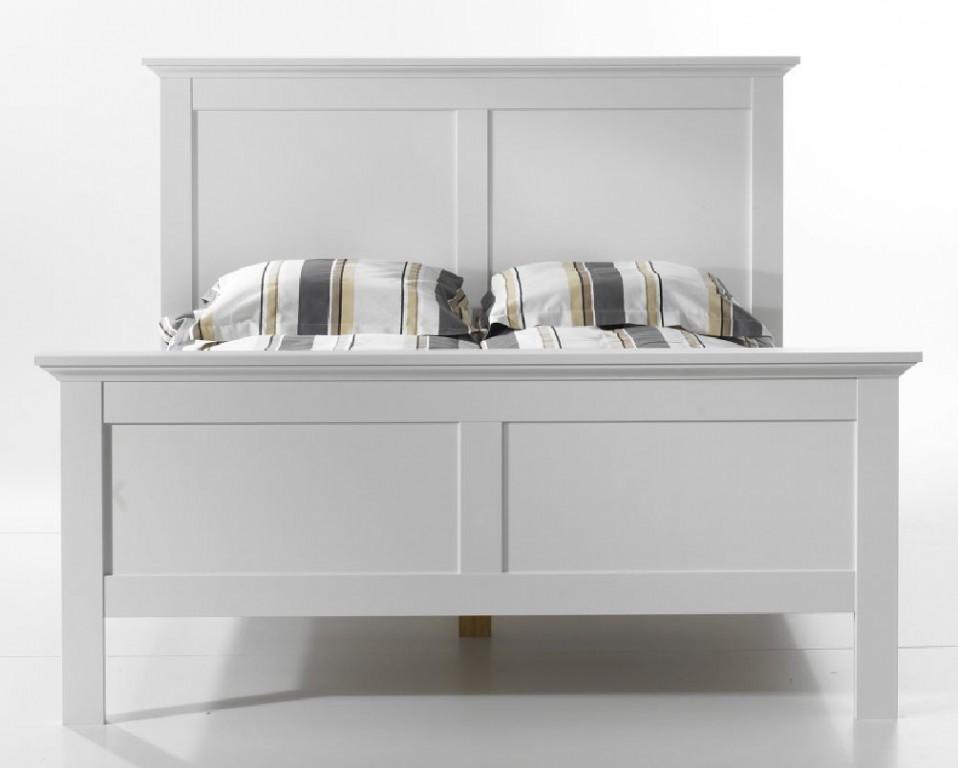 paris bettgestell 140x200cm bett einzelbett schlafzimmer wei schlafen betten bettgestelle 140 x. Black Bedroom Furniture Sets. Home Design Ideas