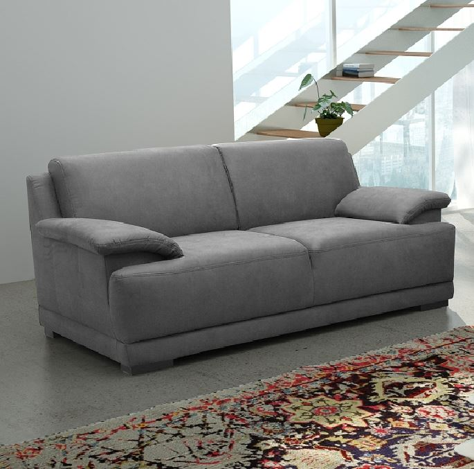 alessandria boxspringsofa 2 sitzer 3 sitzer garnitur sofa couch dunkelgrau ebay. Black Bedroom Furniture Sets. Home Design Ideas