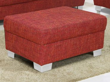 AVERSA Couchgarnitur mit Hocker Sofagarnitur Garnitur Sofa Couch Bordeaux-Rot – Bild 4