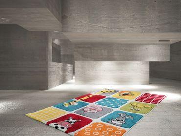 14375 Kids Teppich Kinderteppich Handgemacht Bunt 80x150 cm – Bild 2