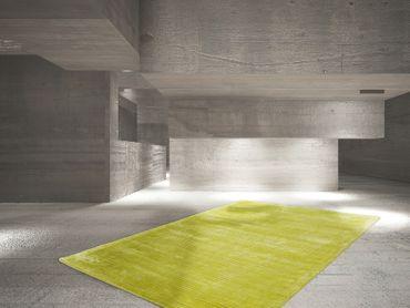 14428 Teppich Handgemacht Lime Limettengrün 80x150 cm – Bild 2