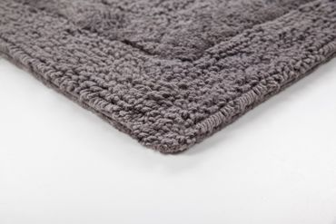 14514 Teppich Baumwolle Badezimmerteppich Anthrazit 2erSet 55x90/45 cm – Bild 2