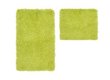14602 Teppich Badezimmerteppich Badvorleger 2erSet Grün 55x90/45 cm – Bild 1