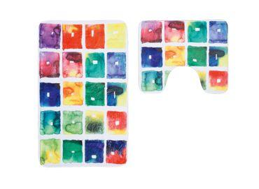 14694 Teppich 2-er Set Mehrfarbig Bunt 55x90/45 cm U 3 – Bild 1