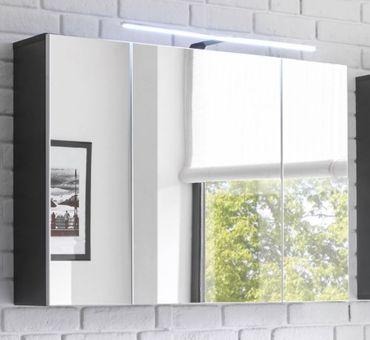 MANHATTAN Spiegelschrank inkl. Beleuchtung Grau – Bild 1